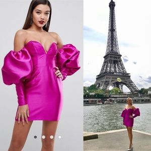 ASOS mini dress with balloon sleeves